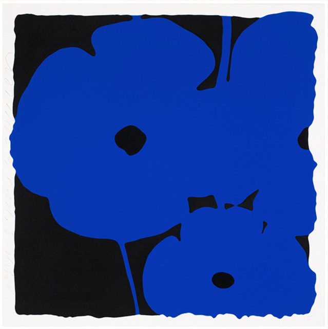 Donald Sultan, 'Poppies, June 6, 2011 (Blue)', 2011, New Gallery of Modern Art