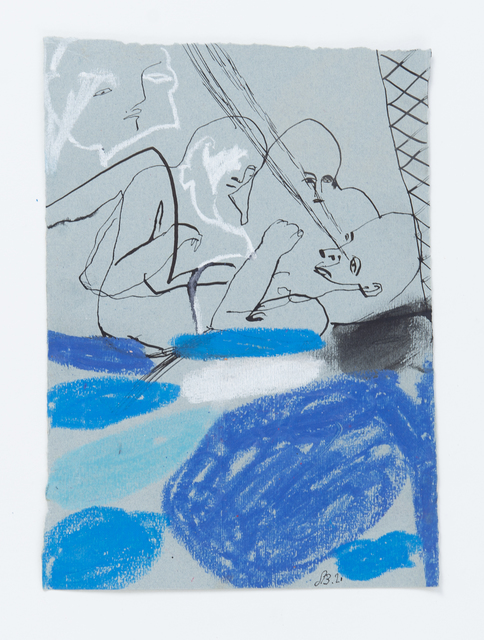 Samuel Bassett, 'Fishnet Death Bed', 2020, Drawing, Collage or other Work on Paper, Work on paper, Vigo Gallery