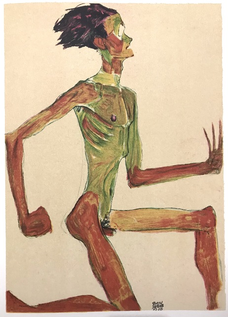 , 'Kneeling Male Nude Profile,' 2007, Wallector