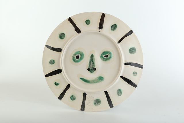 """Pablo Picasso, 'Original Pablo Picasso Dual Sided Ceramic AR 349, 350 """"Face with Spots,"""" """"Mat Face""""', 1956, Modern Artifact"""