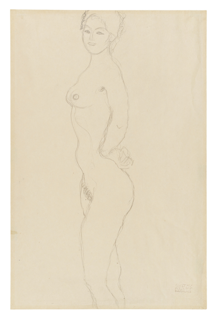 , 'Standing Female Nude, Facing Left, with Hand Resting on Hip,' 1916-1917, Galerie St. Etienne