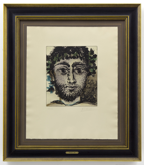 Pablo Picasso, 'Tête de Faune', 1958, Drawing, Collage or other Work on Paper, Color soft ground etching with aquatint on  paper, Capsule Gallery Auction