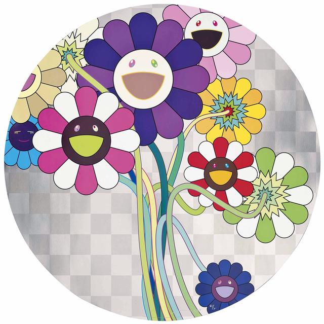 , ' Purple Flowers in a Bouquet,' 2010, Galerie Raphael