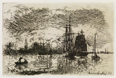 Soleil Couchant, Port d'Anvers.