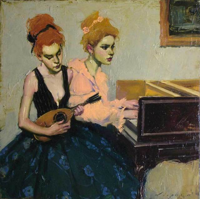 , 'At the Piano,' 2015, Pontone Gallery