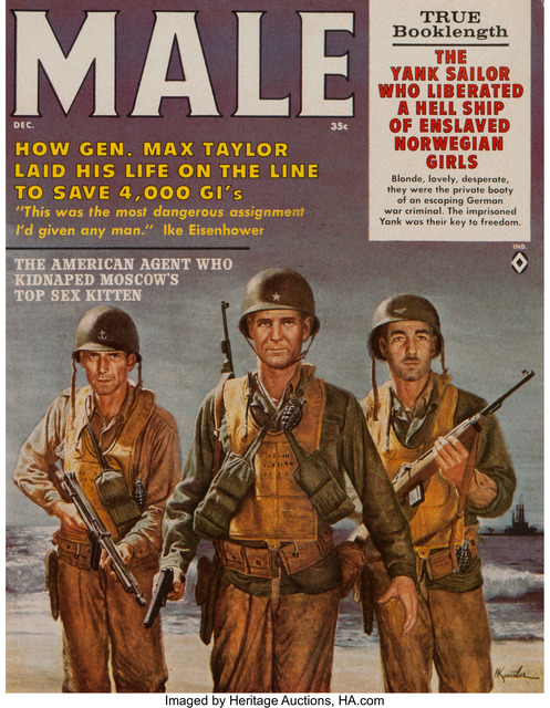 Morton Künstler, 'General Max Taylor, Male magazine cover, December 1961', Painting, Gouache on board, Heritage Auctions