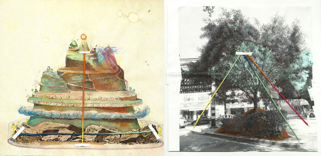 Patricia Dominguez, 'Tree Analogue Study for Myth Making on 103rd Street Community garden in East Harlem', 2013, Mixed Media, Combined media on paper, El Museo del Barrio
