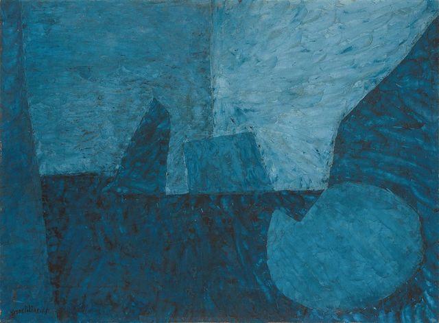 , 'COMPOSITION EN BLEUE AU CERCLE II ,' 1955, Cheim & Read