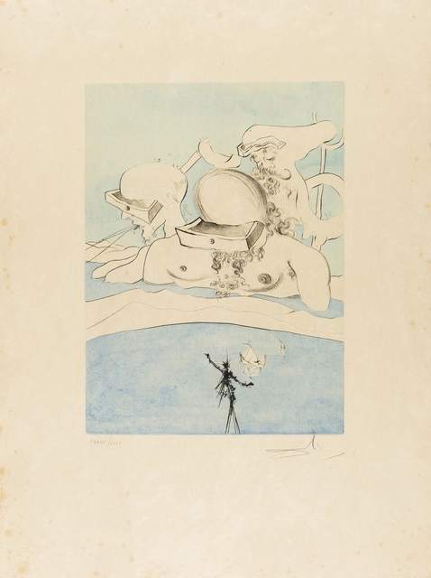 Salvador Dalí, 'Flung out like a Fag-end  by the Big-wigs (Field 74-8A; M&L 668d)', 1974, Forum Auctions
