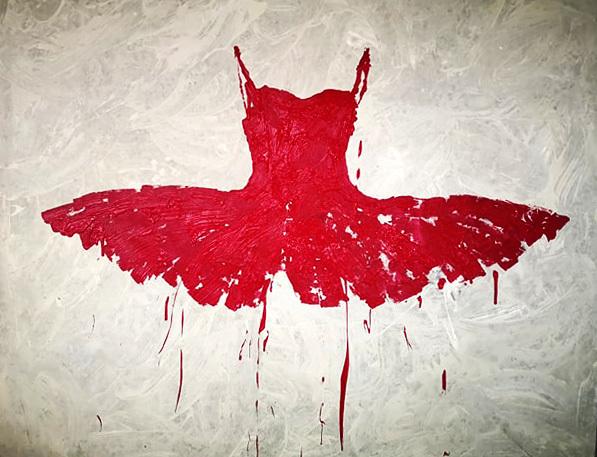 , 'Red,' 2019, Galleria Ca' d'Oro
