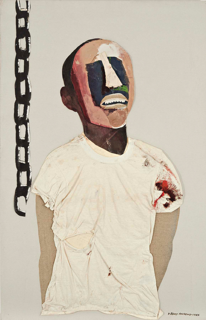 , 'Study for Portrait of Oppression (Homage to Black South Africans),' 1985, Michael Rosenfeld Gallery