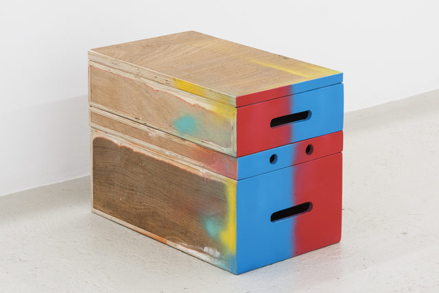 , 'Untitled (Painted Box Set, red/blue),' 2015, Annka Kultys Gallery