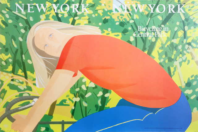 Alex Katz, 'New York, New York - Bicycling in Central Park', 1983, RoGallery