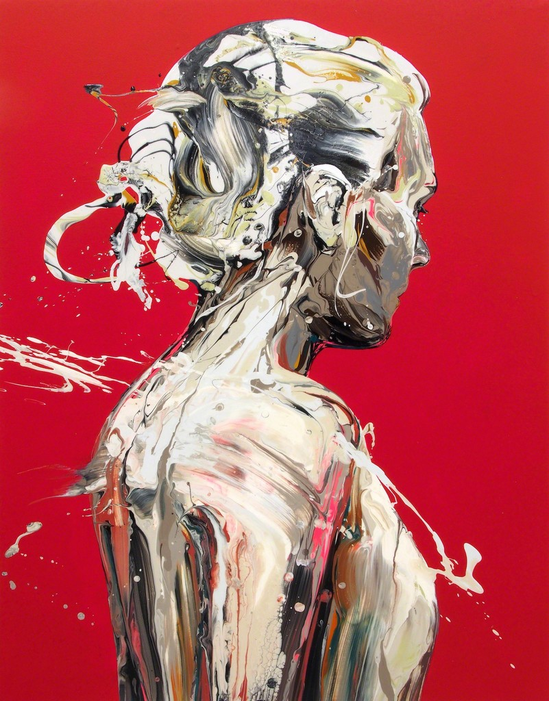 Transcription 57 (She), Acrylic on canvas, 41 × 31 in, 2018