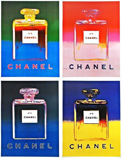 Andy Warhol, 'Chanel No. 5  (Suite of Four (4) Separate  Limited Edition Works on thin linen canvas backing)', 1997, Alpha 137 Gallery Gallery Auction