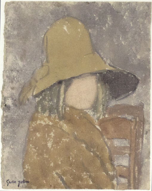 , 'Girl in Wide-Brimmed Hat,' Probably executed during the 1920s, Davis & Langdale Company, Inc.
