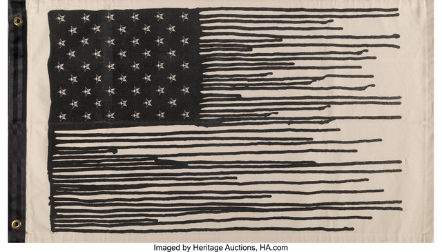 Shepard Fairey (OBEY), 'Drip Flag', 2010, Heritage Auctions