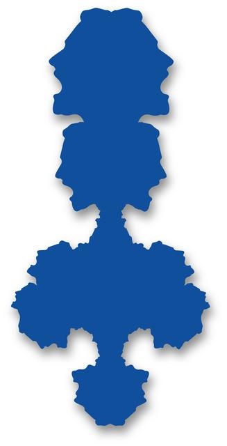 , 'Rorschach Portrait (blue),' 2012, Michael Fuchs Galerie
