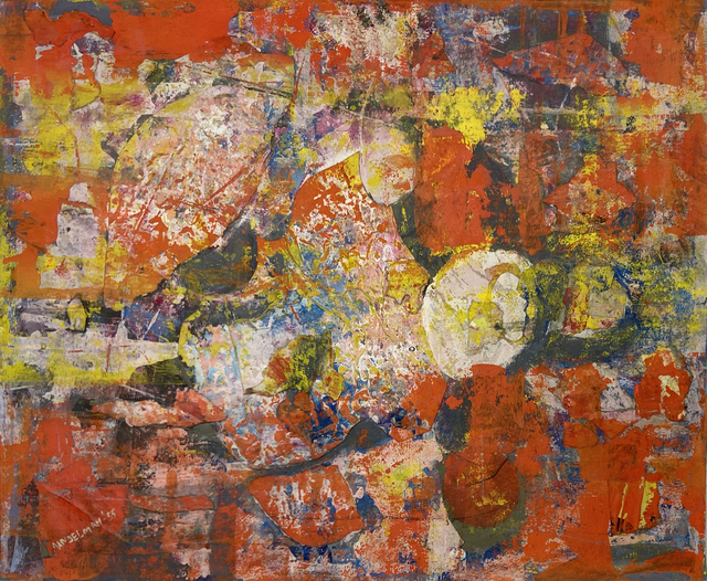 Beatrice Mandelman, 'Morning Flower ( 50-COL39)', 1955, Painting, Gouache on cardboard, 203 Fine Art