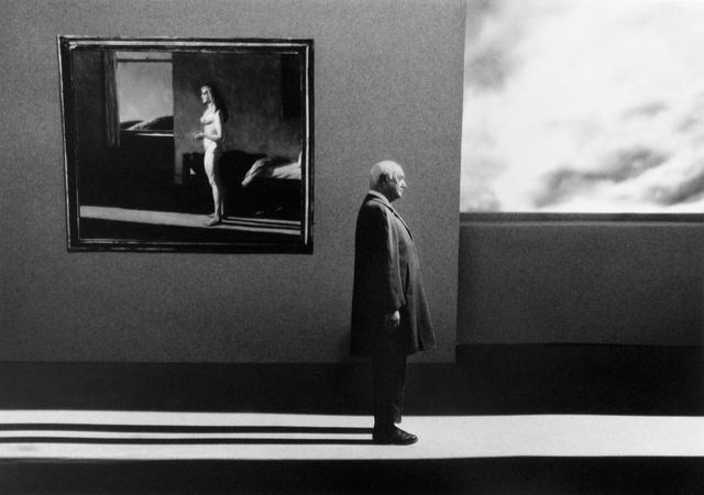 Gilbert Garcin, 'Un autre jour (d'après Edward Hopper) - Another day after Edward Hopper', 2006, Photography, Gelatin silver print, Stephen Bulger Gallery
