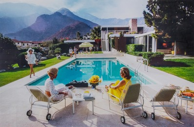 Poolside Gossip: Lita Baron, Nelda Linsk and Helen Dzo Dzo, Palm Springs