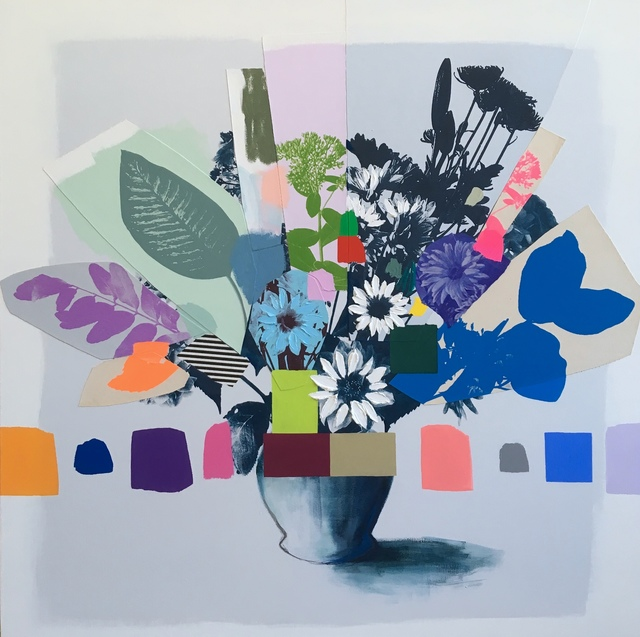 Emily Filler, 'Vintage Bouquet (white + blue flowers)', 2019, Galerie Robertson Arès