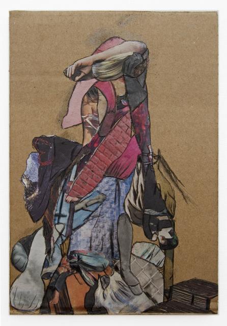 , 'Lady Pink (Cardboard Portraits Series),' 2015, Fanny Allié + Ketta Ioannidou