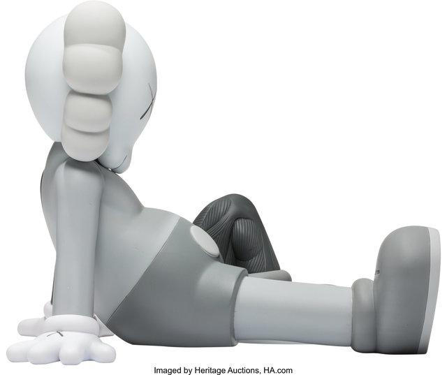 KAWS, 'Resting Place Companion (Grey)', 2013, Sculpture, Painted cast vinyl, Heritage Auctions