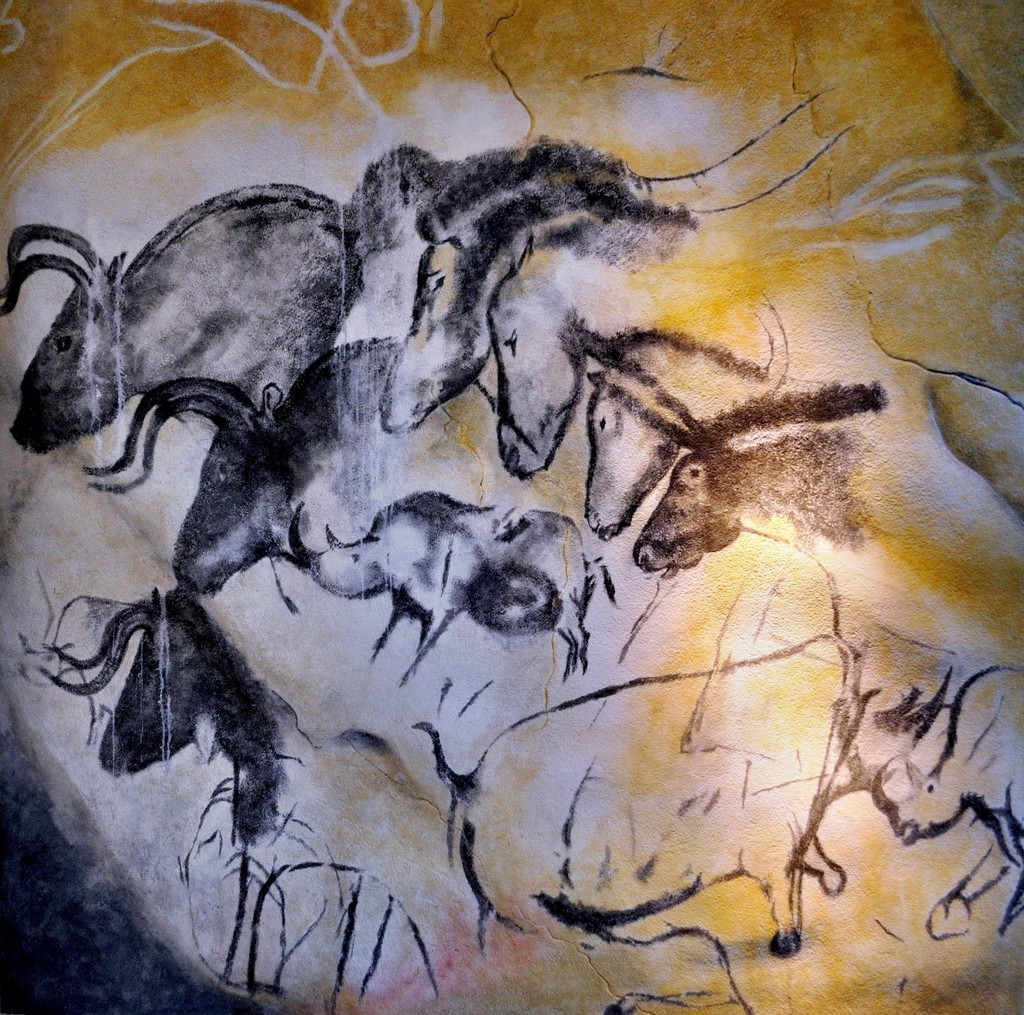 Chauvet Cave Ardeche Gorge France Wall Painting With Horses Rhinoceroses And Aurochs 30000 Bce 28000 Bce Artsy
