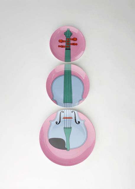 , 'Violin plates (pink),' 2016, Plinth