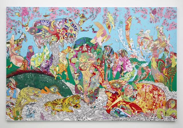 Keiichi Tanaami, 'Figure of red elephant and green whale', 2014, Sikkema Jenkins & Co.