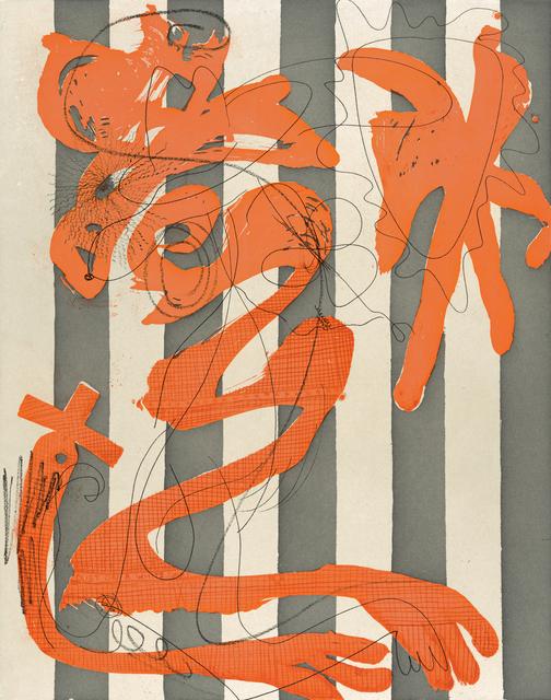 , 'Dust on a White Shirt (Stripes),' 2014, Crown Point Press
