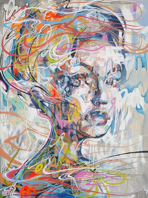 Danny O'Connor, 'Come Grooving Up Slowly', 2016, Painting, Mixed media on canvas, Villa del Arte Galleries