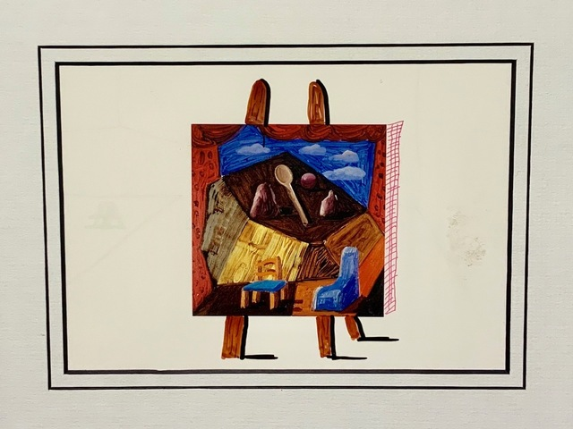 David Hockney, 'Hand Drawn Easel with Cross-Hatching', 1988, Mr & Mrs Clark's
