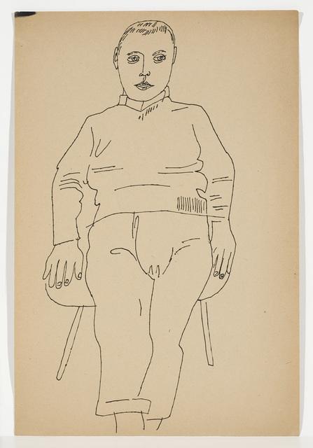 Andy Warhol, 'SEATED MALE', ca. 1955, Cheim & Read