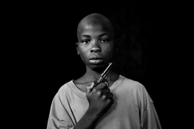 , 'A Boy with his toy pistol, Growing in Darkness Series,' 2012-2015, Ed Cross Fine Art