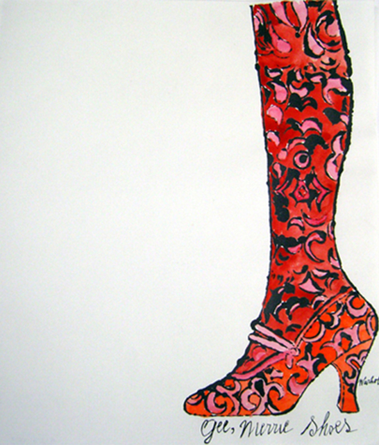 Andy Warhol, 'Gee, Merrie Shoes (Red)', 1956, Collectors Contemporary