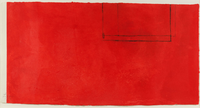 Robert Motherwell, 'Red Open with White Line', 1979, Leslie Sacks Gallery