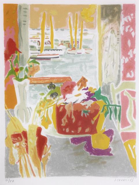 """Jules Cavailles, 'Lithographie pour """"Carnet de Cannes""""', 1967, Print, Color lithograph, Hans den Hollander Prints"""