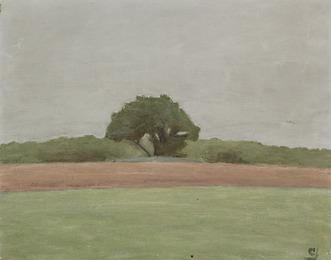 Landskab med trægruppe (Landscape with a group of trees), Bornholm