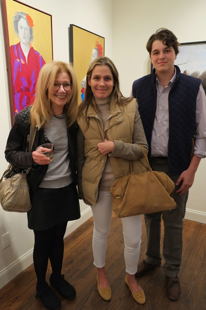 Artist Gail Postal with Aerin Lauder nd her son, Jack