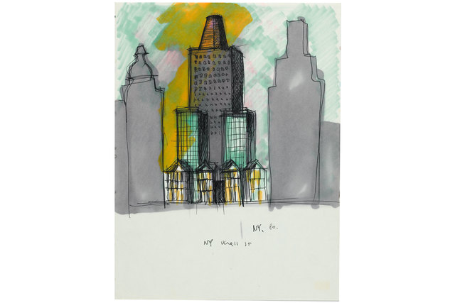 , 'NY Wall Street drawing,' 1980, Casati Gallery