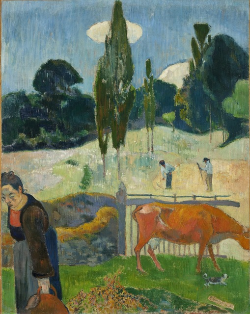 Paul Gauguin, 'The Red Cow', 1889, Painting, Oil on canvas, Los Angeles County Museum of Art