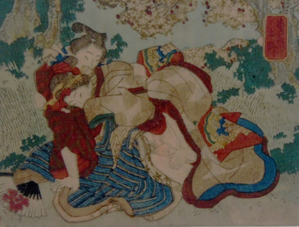 Boy erotic japanese woodcuts posing pantyhose nude