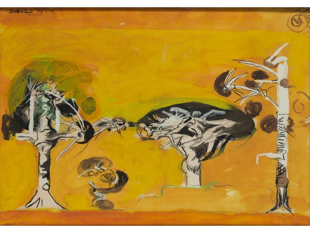 , 'Thorn Trees,' 1971, Christopher Kingzett Fine Art
