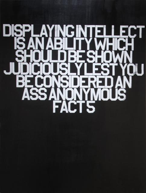 , 'Fact 5 (18 Anonymous Facts),' 2016, Cheryl Hazan Gallery