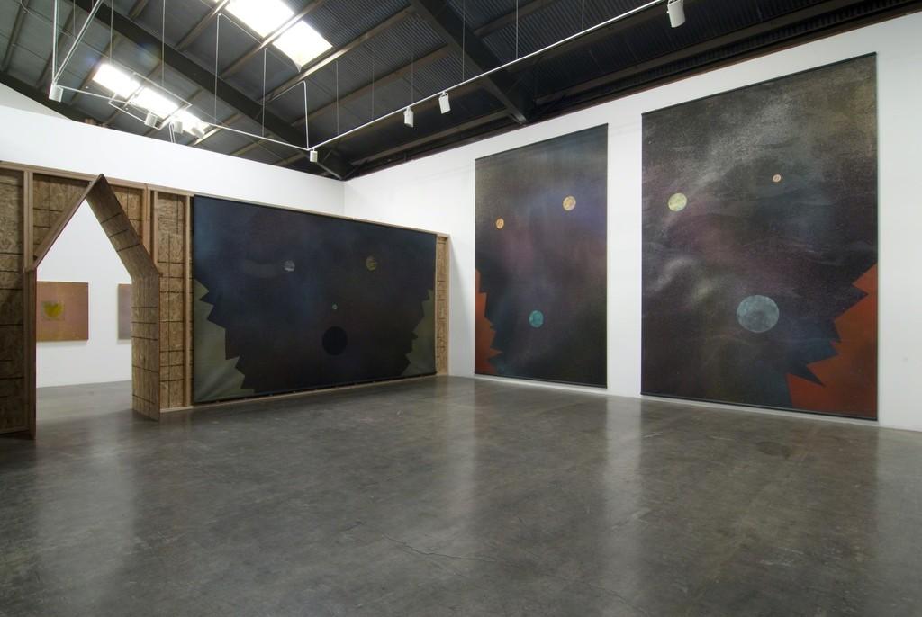 "Installation view of ""Billy Al Bengston,"" at Samuel Freeman, February 15, 2010."