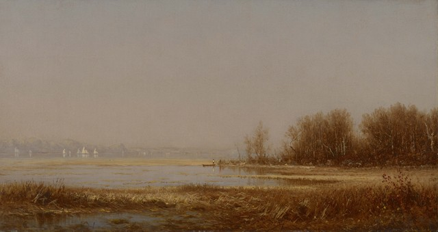 Sanford Robinson Gifford, 'The Marshes of the Hudson', 1878, Colby College Museum of Art