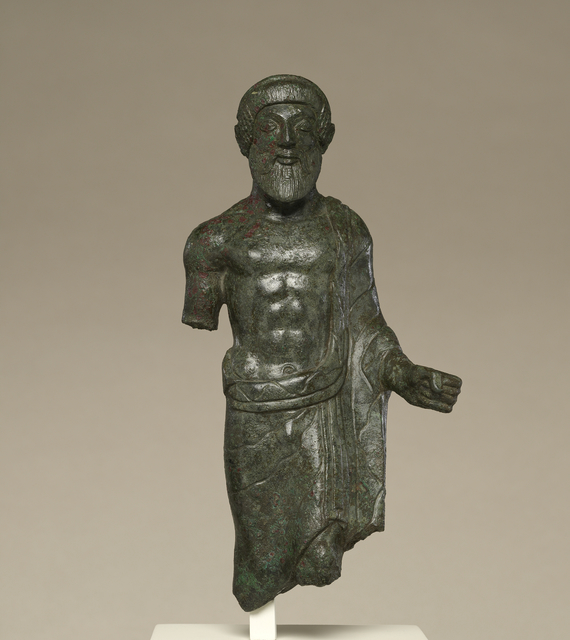 'Statuette of a Bearded Man, Probably Tinia', ca. 480 BCE, J. Paul Getty Museum