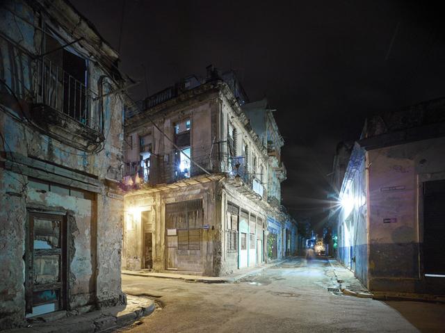 David Burdeny, 'Old Havana Corner (Night), Havana, Cuba', 2014, Galerie de Bellefeuille